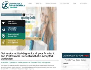 affordablelifeexperiencedegree.com screenshot