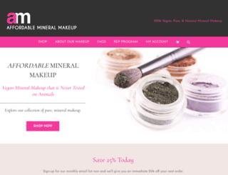 affordablemineralmakeup.com screenshot
