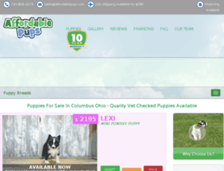 affordablepup.com screenshot