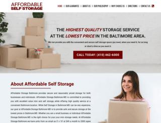 affordablestoragebaltimore.com screenshot