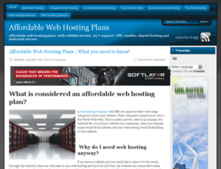affordablewebhostingx.com screenshot