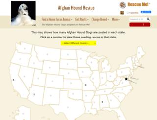afghanhound.rescueme.org screenshot