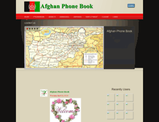 afghanphonebook.com screenshot