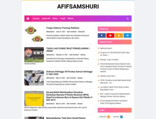afifsamshuri.blogspot.com screenshot