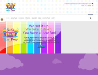 afjumpingcastles.com screenshot