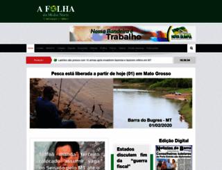 afolhadomedionorte.com.br screenshot