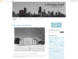aforeignland.blogspot.com screenshot