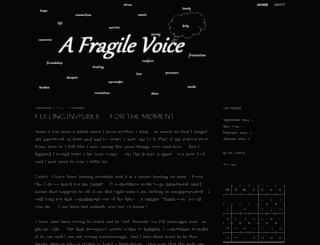 afragilevoice.wordpress.com screenshot