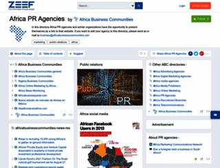 africa-pr-agencies.zeef.com screenshot