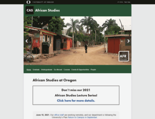 africa.uoregon.edu screenshot