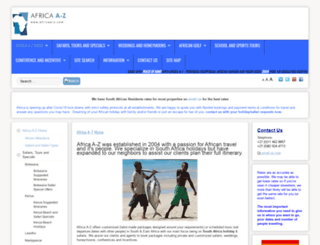 africaa-z.co.uk screenshot
