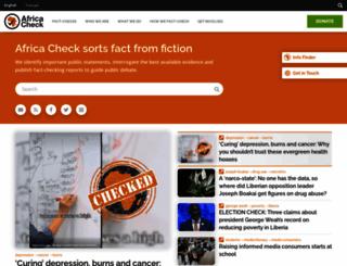 africacheck.org screenshot