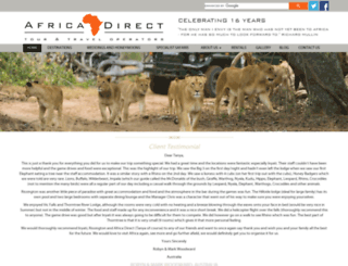 africadirect.co.za screenshot