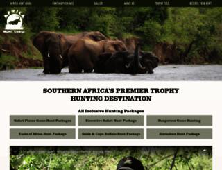 africahuntlodge.com screenshot