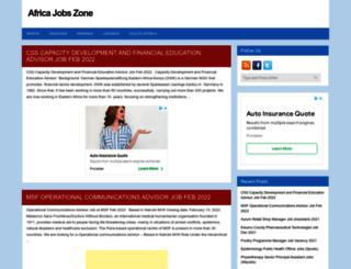 africajobszone.com screenshot