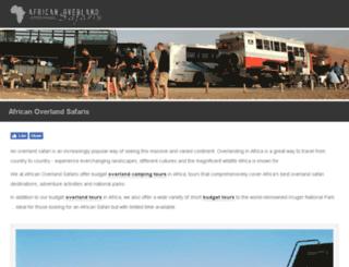 african-overland-safaris.com screenshot