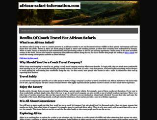 african-safari-information.com screenshot