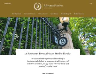 africana.barnard.edu screenshot