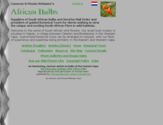 africanbulbs.com screenshot