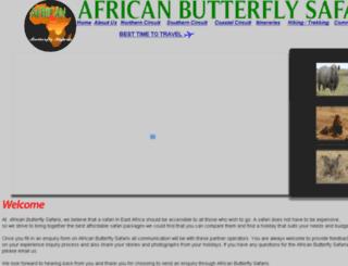 africanbutterflysafaris.com screenshot