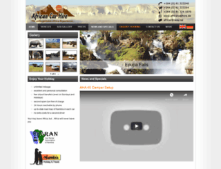 africancarhire.de screenshot