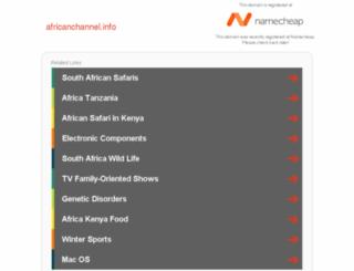 africanchannel.info screenshot