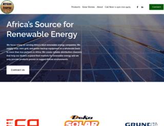 africanenergy.com screenshot