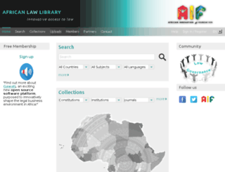 africanlawlibrary.net screenshot