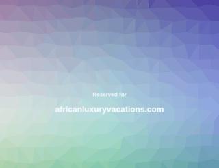 africanluxuryvacations.com screenshot