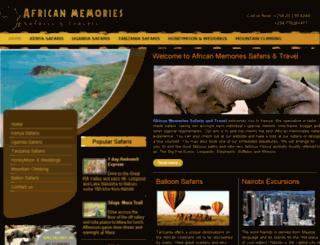 africanmemoriessafaris.com screenshot