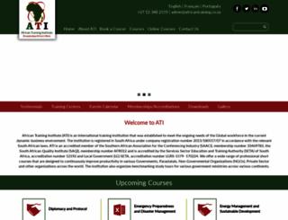 africantraining.co.za screenshot