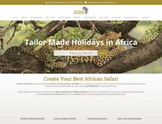 africanwelcomesafaris.com screenshot