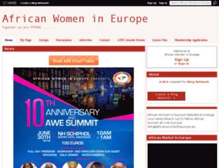 africanwomenneurope.ning.com screenshot