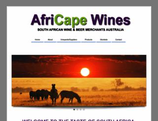 africapewines.com screenshot