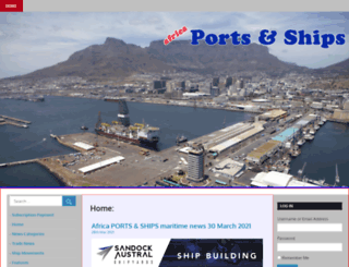 africaports.co.za screenshot