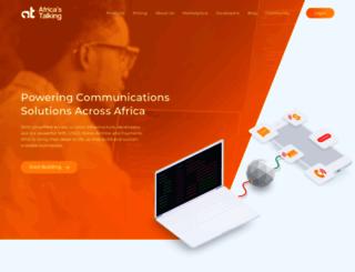 africastalking.com screenshot