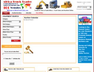 africatrucktrader.com screenshot