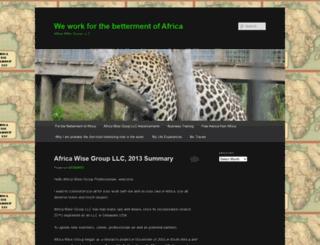 africawisegroupllc.wordpress.com screenshot
