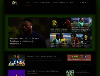 afrik-foot.com screenshot