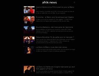 afrik-news.com screenshot