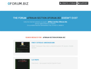 afrikan-section.0forum.biz screenshot
