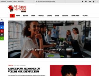 afriquefemme.com screenshot