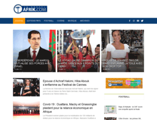 afriquerencontre.com screenshot