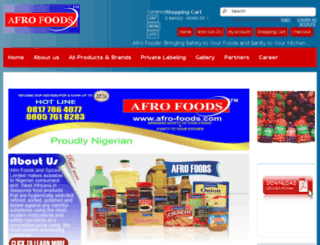 afro-foods.com screenshot