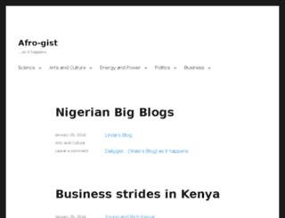 afro-gist.com screenshot