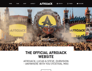 afrojack.com screenshot