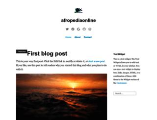 afropediaonline.wordpress.com screenshot