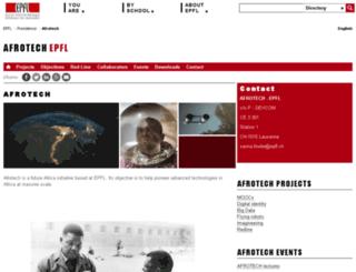 afrotech.epfl.ch screenshot