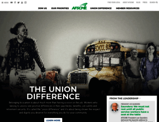 afscme.org screenshot