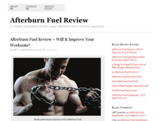 afterburnfuelreview.org screenshot